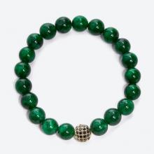 Vòng tay đá thiên nhiên phối charm si đính đá 8mm - Ngọc Quý Gemstones