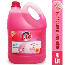 Nước lau sàn Lix hương lily và hoa hồng 4 lít - Đậm đặc gấp 2 lần - LSL03