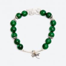 Vòng tay đá thiên nhiên charm tỳ hưu - Ngọc Quý Gemstones