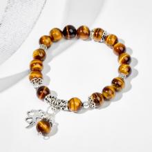 Vòng tay đá thiên nhiên phối charm cỏ 4 lá - Ngọc Quý Gemstones