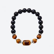 Vòng tay đá tự nhiên phối đá lu thống obsidian - Ngọc Quý Gemstones