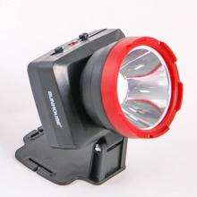 Đèn pin đội đầu SHE-5032 cỡ trung, đen đỏ, sáng trắng