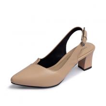 Giày cao gót Erosska thời trang mũi nhọn phối dây quai mảnh gót hở cao 5cm EH032