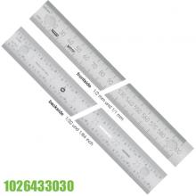 Thước lá inox 300mm có nam châm, khổ 30x.1.0mm Vogel Germany 1026433030