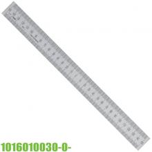 Thước lá inox 150-0-150mm, bản thước 20x1.0mm, điểm 0 ngay giữa. Vogel Germany-1016010030-0-