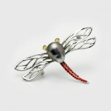 Cài áo ngọc trai Tahiti  9-10mm chất liệu bạc quý kim Sang trọng trẻ trung thanh lịch A1089S0T39B163001Z026
