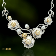 Dây chuyền  ngọc trai South Sea 8-11.5mm chất liệu bạc quý kim Quý phái sang trọng N9079S0S28O150009Z303