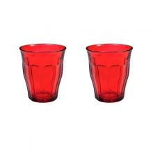 Bộ 2 ly thuỷ tinh cường lực Pháp Duralex Picardie  Colors Red 250ml
