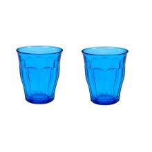 Bộ 2 ly thuỷ tinh cường lực Pháp Duralex Picardie  Colors Blue 250ml