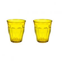 Bộ 2 ly thuỷ tinh cường lực Pháp Duralex Picardie  Colors Yellow 250ml