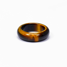 Nhẫn nữ đá mắt hổ vàng nâu - Ngọc Quý Gemstones