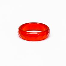 Nhẫn nữ đá mã não đỏ mài giác - Ngọc Quý Gemstones
