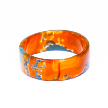 Vòng tay băng ngọc thủy tảo huyết bản vuông - Ngọc Quý Gemstones