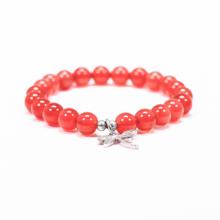 Vòng tay cho bé đá mã não đỏ charm chuồn chuồn - Ngọc Quý Gemstones