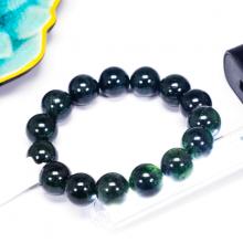 Vòng tay đá thạch anh tóc xanh size hạt 14mm - Ngọc Quý Gemstones