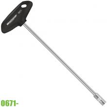 0671 0110 Đầu tuýp lục giác 11mm có tay vặn kiểu chữ T, dài 230mm