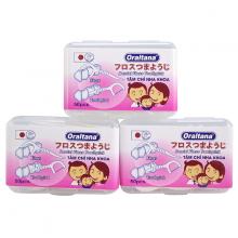 Combo 3 hộp 50 cái tăm chỉ nha khoa Oraltana xuất Nhật - Giúp xỉa răng sạch sẽ và không lo hôi miệng