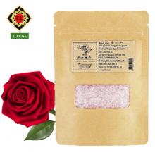 Muối tắm tinh dầu hoa hồng ECOLIFE - Rose Natural Bathsalt