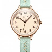 Đồng hồ nữ Julius Hàn Quốc dây da màu xanh JA-1073D