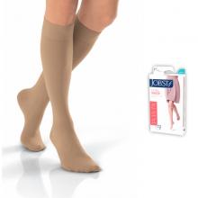 Vớ y khoa gối JOBST Ultrasheer, siêu mỏng điều trị giãn tĩnh mạch chân,20-30 mmHg,size M - kín ngón, màu da) tất y khoa
