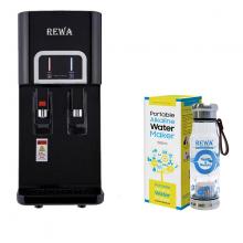 Combo Máy lọc nước nóng lạnh Rewa RW-NA-218.BLACK + Máy tạo nước ION kiềm cầm tay RW-AK-1700