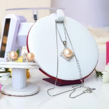 Bộ trang sức Ngọc trai Cao cấp 3M - Thần hộ mệnh - GUARDIAN PEARL (7-9ly) - Bạc S925 nạm Zirco - COTAM0406