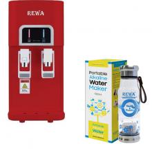 Combo Máy lọc nước nóng lạnh Hàn Quốc Rewa RW-NA-218.WINE + Máy tạo nước ION kiềm cầm tay RW-AK-1700