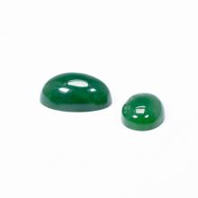 Mặt dây chuyền, mặt nhẫn oval đá ngọc bích 17x12mm - Ngọc Quý Gemstones