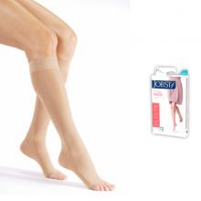 Vớ y khoa gối JOBST Ultrasheer,siêu mỏng điều trị giãn tĩnh mạch chân,20-30 mmHg,size M (hở ngón, màu da) (tất y khoa)
