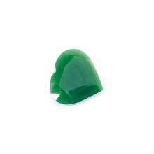 Mặt dây chuyền, mặt nhẫn trái tim mài giác đá ngọc bích 17.5x15mm - Ngọc Quý Gemstones
