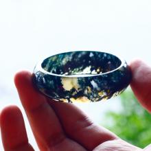 Vòng tay đá băng ngọc thủy tảo ni53 mẫu 2 - Ngọc Quý Gemstones