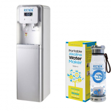 Combo Máy lọc nước Nano nóng lạnh Rewa RW-NA-816.SILVER + Máy tạo nước ION kiềm cầm tay RW-AK-1700