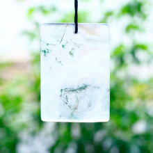 Mặt dây chuyền băng ngọc thủy tảo bản vuông 52x36mm - Ngọc Quý Gemstones
