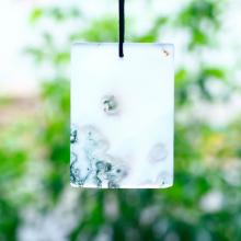 Mặt dây chuyền băng ngọc thủy tảo bản vuông 48x34mm - Ngọc Quý Gemstones