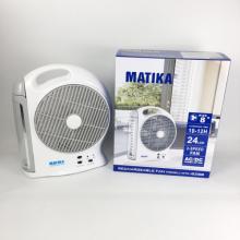 Quạt tích điện Matika 6298 - đèn LED hiện đại, pin khỏe