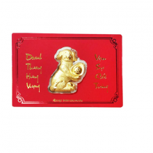 Khuyển vàng cầu may - quà tặng mỹ nghệ Kim Bảo Phúc phủ vàng DOJI DE0118LXD