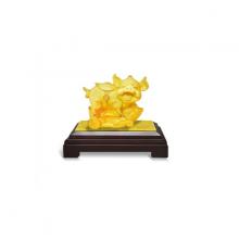 Kim hợi tài lộc - quà tặng mỹ nghệ Kim Bảo Phúc phủ vàng 24K DOJI FJZ-0016X