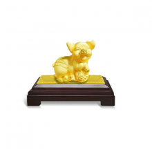 Heo vàng đại phúc - quà tặng mỹ nghệ Kim Bảo Phúc phủ vàng 24K DOJI DEFJZ-002-X