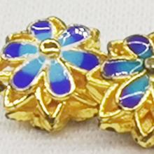 Charm hoa cúc xanh phối vòng chuỗi trang sức phụ kiện nam nữ