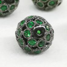 Charm đính đá xanh lá cây phối chuổi vòng trang sức phụ kiện handmade nam nữ pk169