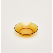 Bộ 4 dĩa thủy tinh cường lực Pháp Duralex Lys vàng Amber 14.5cm