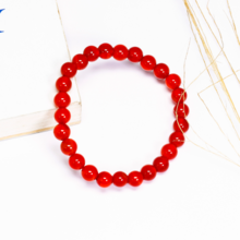 Vòng tay đá mã não đỏ size hạt 6mm mệnh hỏa , thổ - Ngọc Quý Gemstones