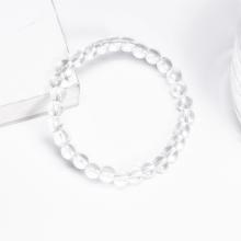 Vòng tay đá thạch anh trắng size hạt 6mm mệnh thủy, kim - Ngọc Quý Gemstones