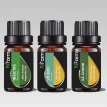 Combo tinh dầu sả chanh, tràm trà, tinh dầu bưởi N'farm (10ml x 3)