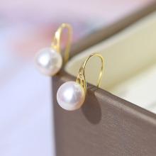 Bông khuyên tai nữ Kiểu móc hoa CTJ4808 - SPOOL PEARL (8-9ly) - Đế bạc S925 mạ vàng Chạm hoa