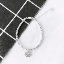 Lắc bi bạc hoa sen  - Ngọc Quý Gemstones