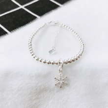 Lắc bi bạc hoa tuyết   - Ngọc Quý Gemstones