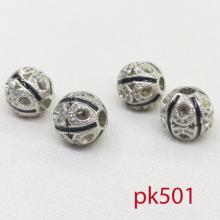 Charm tròn hoạ tiết con sóng đính đá phối trang sức phụ kiện vòng chuỗi nam nữ pk498 pk501 pk502 pk503