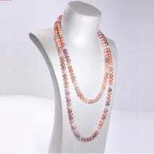 Vòng cổ Ngọc trai Thiên nhiên Cao cấp - Dáng dài Mix màu - DragonPearl (8-9ly) - CTJ6008