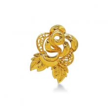 Cài áo ( mặt dây ) bông hồng vàng 24K DOJI FH60001